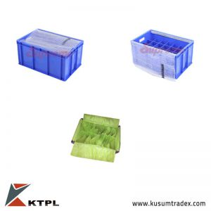 Fabricated crates with Textile Dunn-age